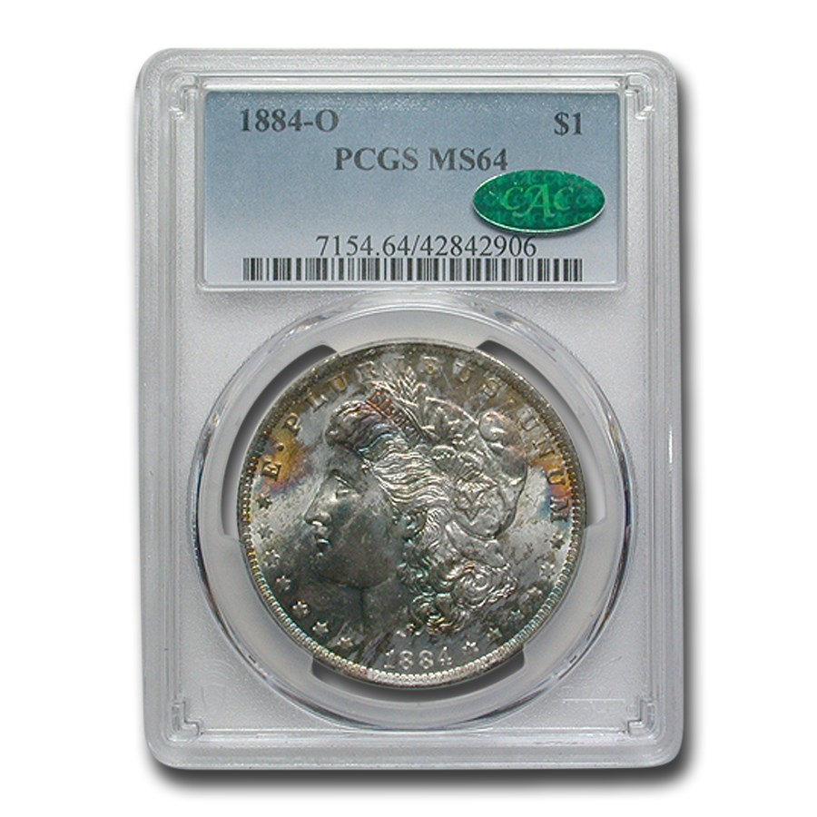 1884-O Morgan Dollar MS-64 PCGS (Soft Obv Toning) CAC