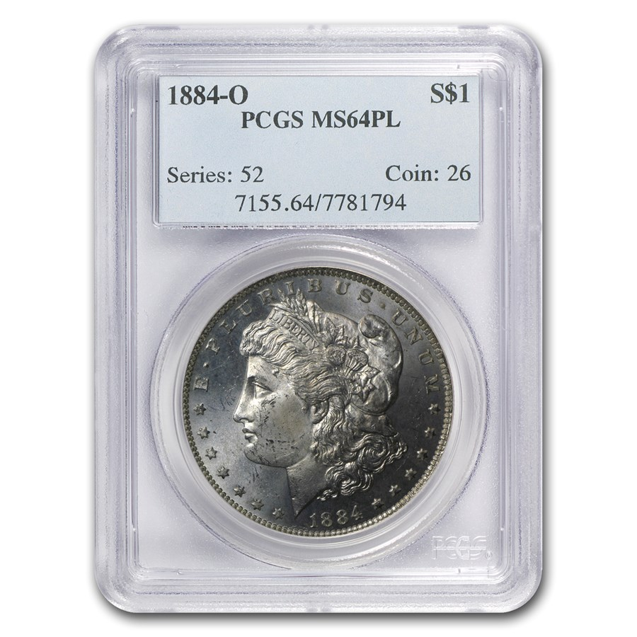 1884-O Morgan Dollar MS-64 PL PCGS