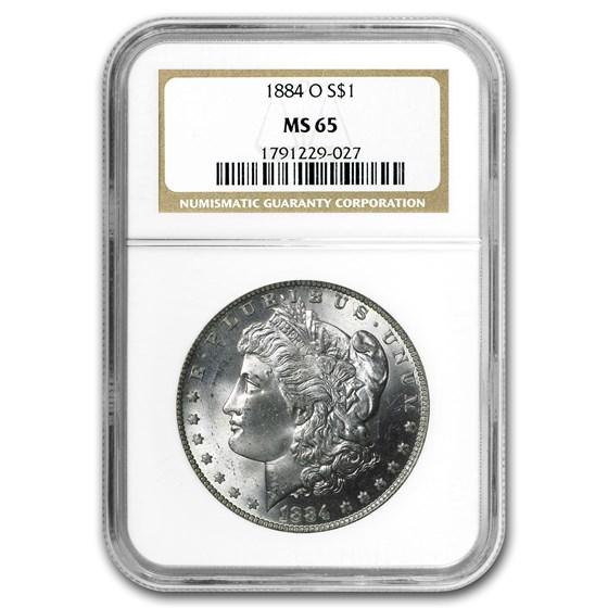 1884-O Morgan Dollar MS-65 NGC