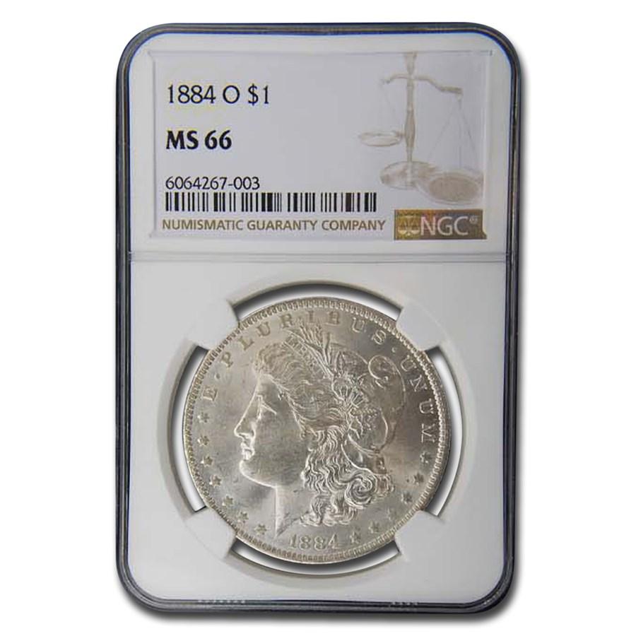 1884-O Morgan Dollar MS-66 NGC