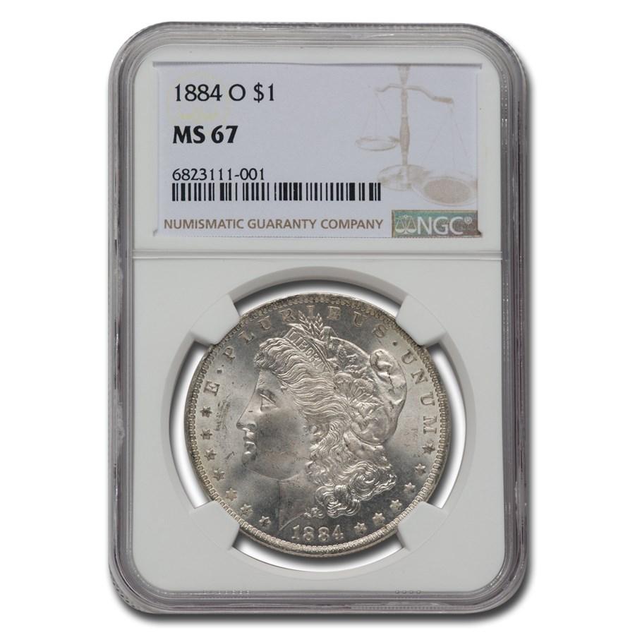 1884-O Morgan Dollar MS-67 NGC
