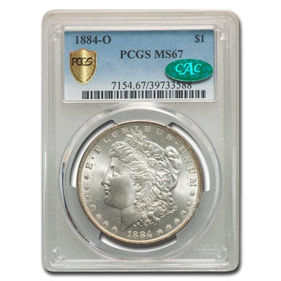 1884-O Morgan Dollar MS-67 PCGS CAC