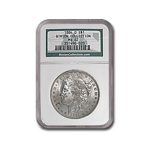 1884-O Morgan Dollar NGC (Binion Collection)