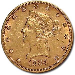 1884-S $10 Liberty Gold Eagle AU