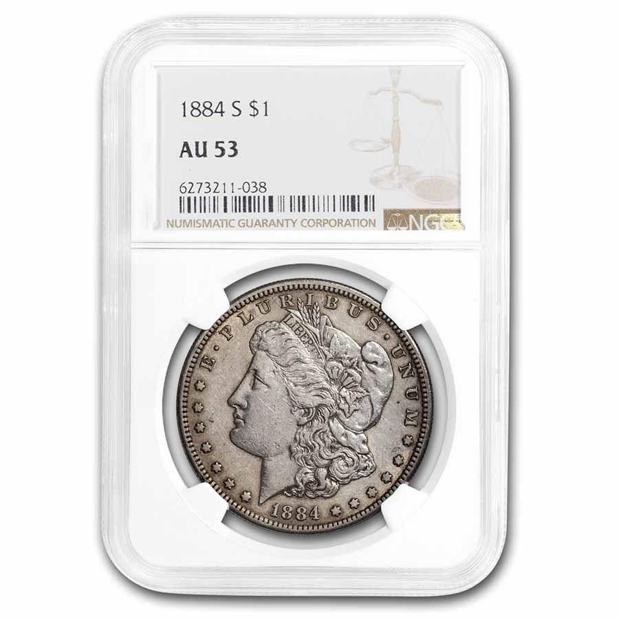 1884-S Morgan Dollar AU-53 NGC