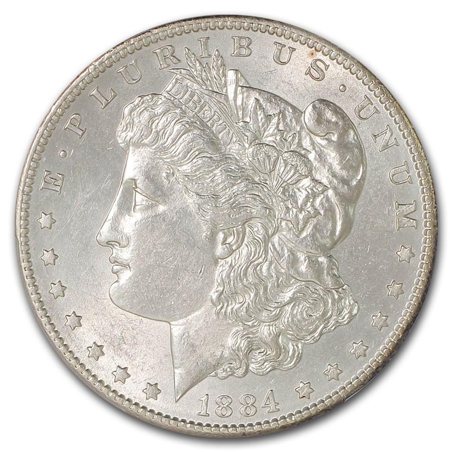 1884-S Morgan Dollar AU-58