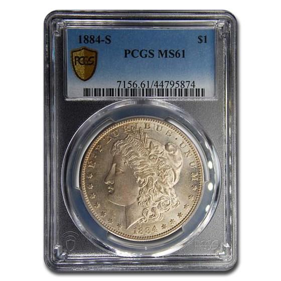 1884-S Morgan Dollar MS-61 PCGS
