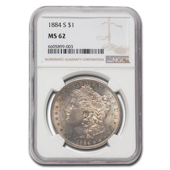 1884-S Morgan Dollar MS-62 NGC