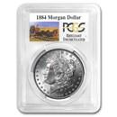1884 Stage Coach Morgan Dollar BU PCGS