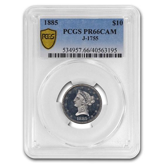 1885 $10 Liberty Eagle Pattern PCGS PR-66 (J-1755)