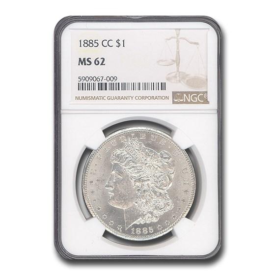 1885-CC Morgan Dollar MS-62 NGC