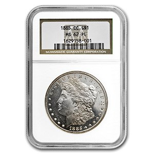 1885-CC Morgan Dollar MS-62 PL NGC