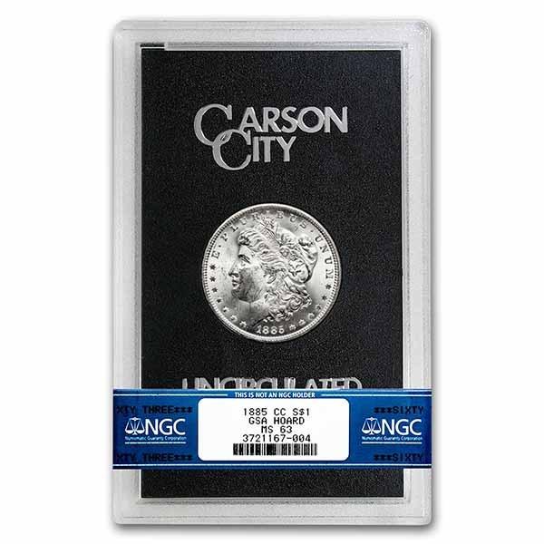 1885-CC Morgan Dollar MS-63 NGC (GSA)