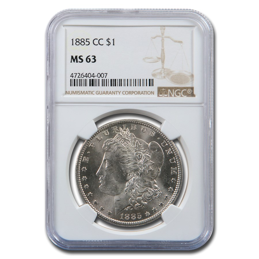 1885-CC Morgan Dollar MS-63 NGC