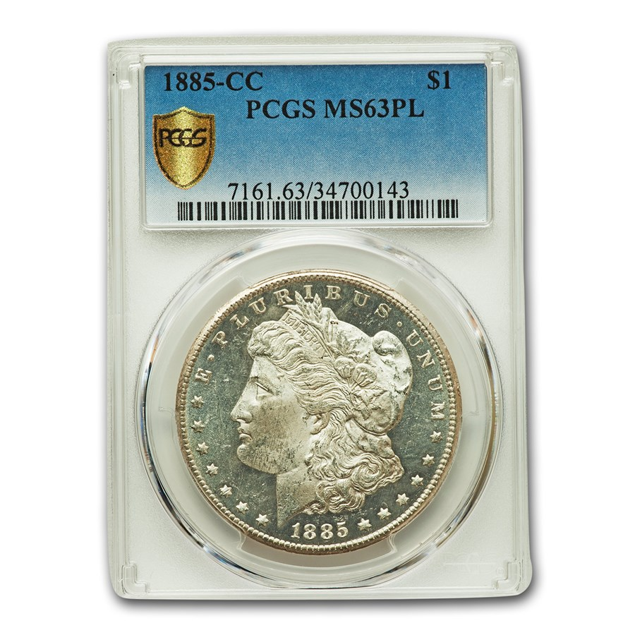 1885-CC Morgan Dollar MS-63 PL PCGS