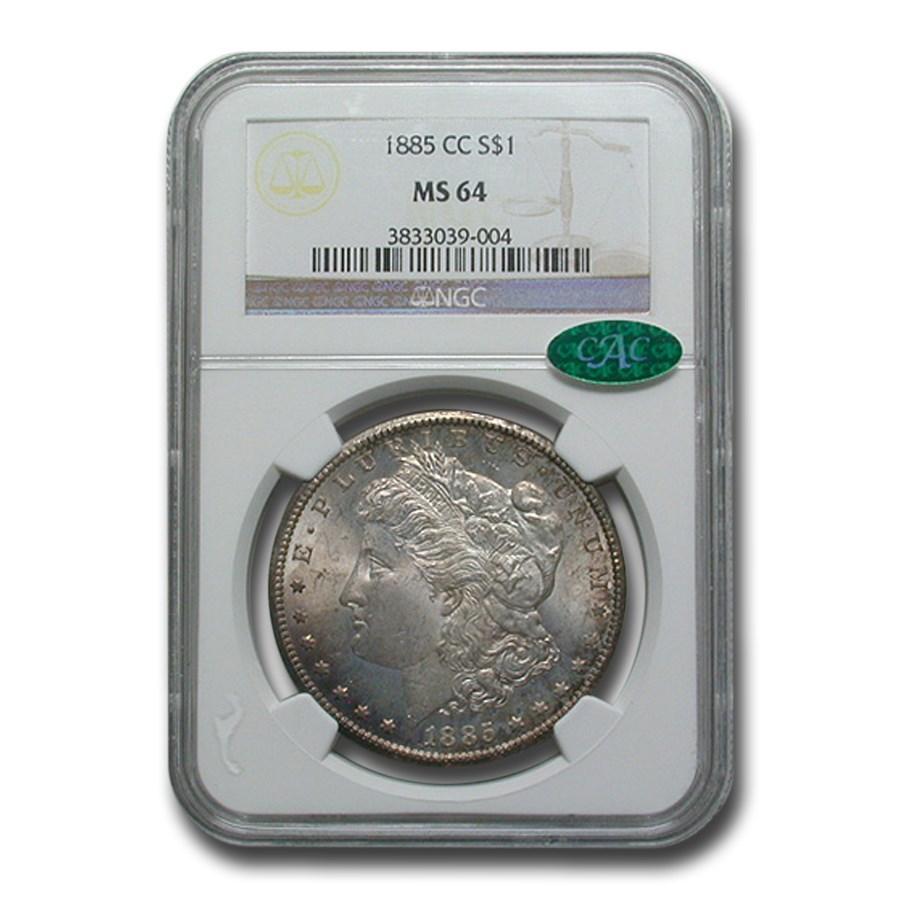 1885-CC Morgan Dollar MS-64 NGC CAC