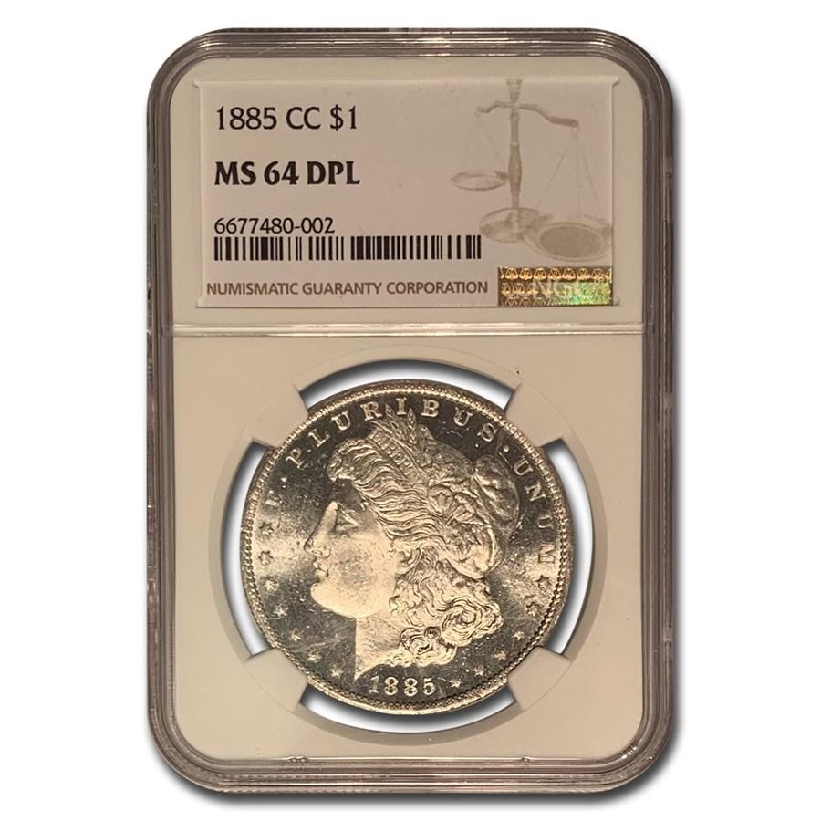 1885-CC Morgan Dollar MS-64 NGC (DPL)