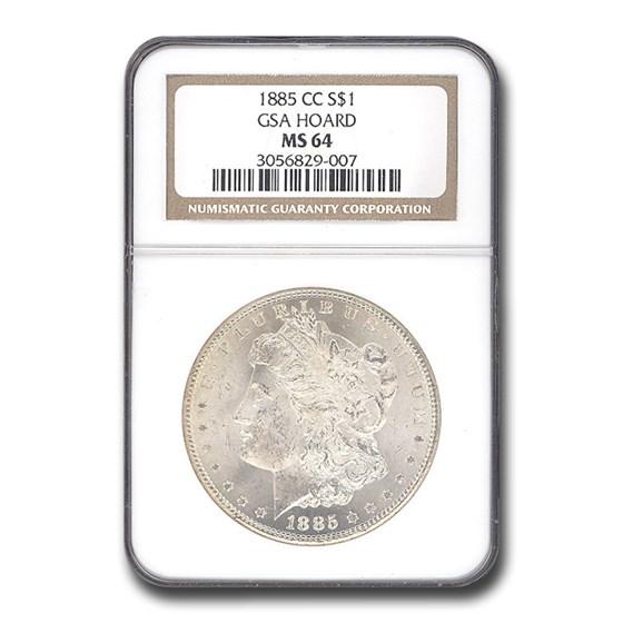1885-CC Morgan Dollar MS-64 NGC
