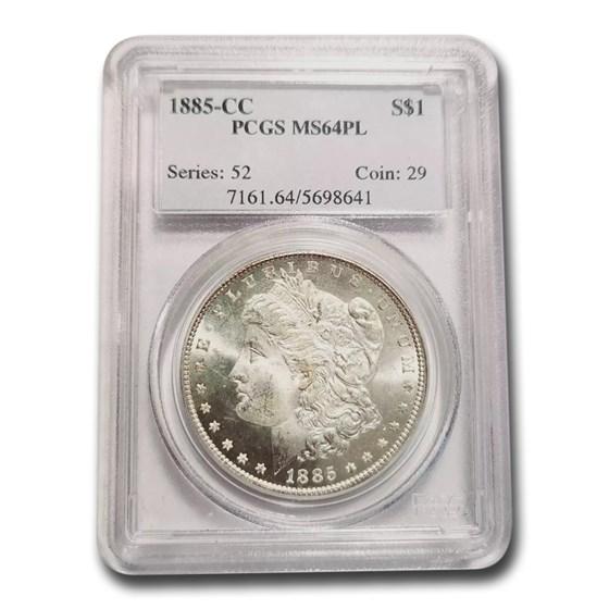 1885-CC Morgan Dollar MS-64 PCGS (PL)