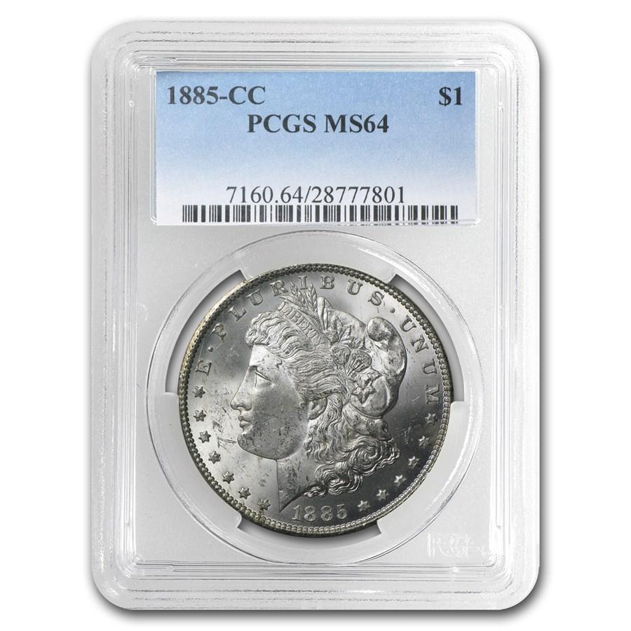 1885-CC Morgan Dollar MS-64 PCGS (Russet Toning)