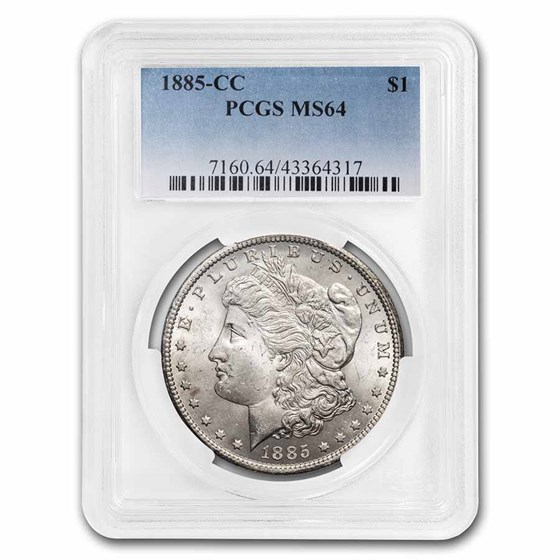 1885-CC Morgan Dollar MS-64 PCGS