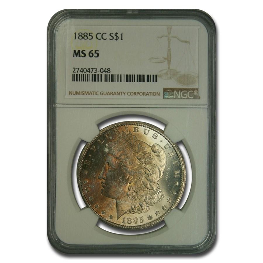 1885-CC Morgan Dollar MS-65 NGC
