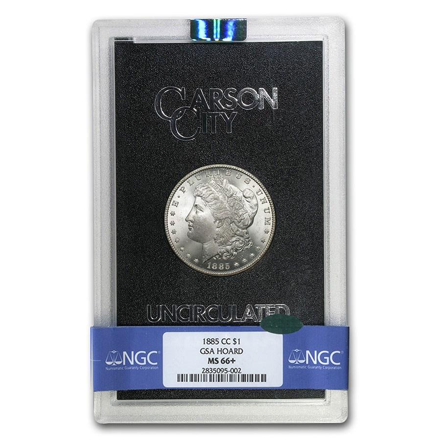 1885-CC Morgan Dollar MS-66+ NGC CAC (GSA)