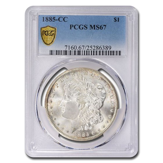 1885-CC Morgan Dollar MS-67 PCGS