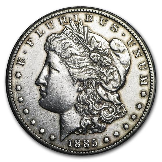 1885-CC Morgan Dollar XF Details (Cleaned)