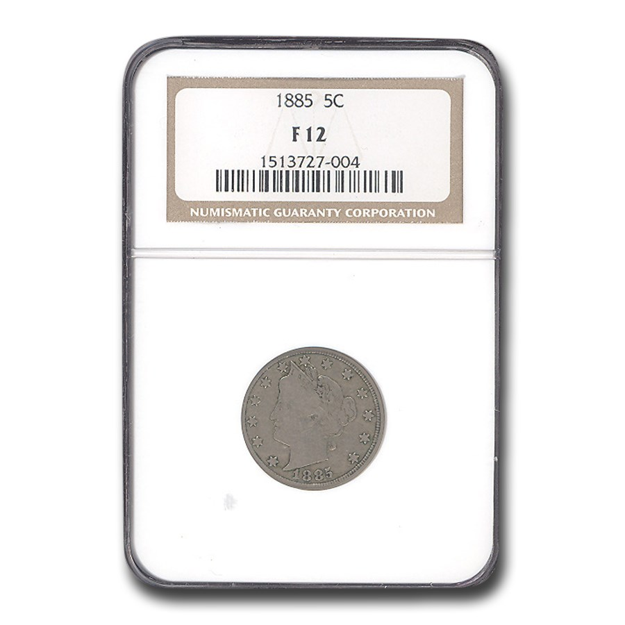 1885 Liberty Head V Nickel Fine-12 NGC