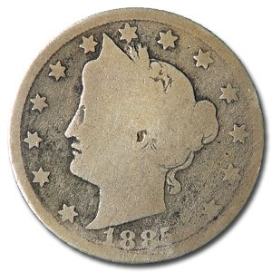 1885 Liberty Head V Nickel Good Obv/AG Rev
