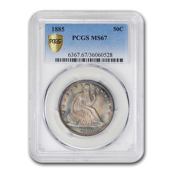 1885 Liberty Seated Half Dollar MS-67 PCGS