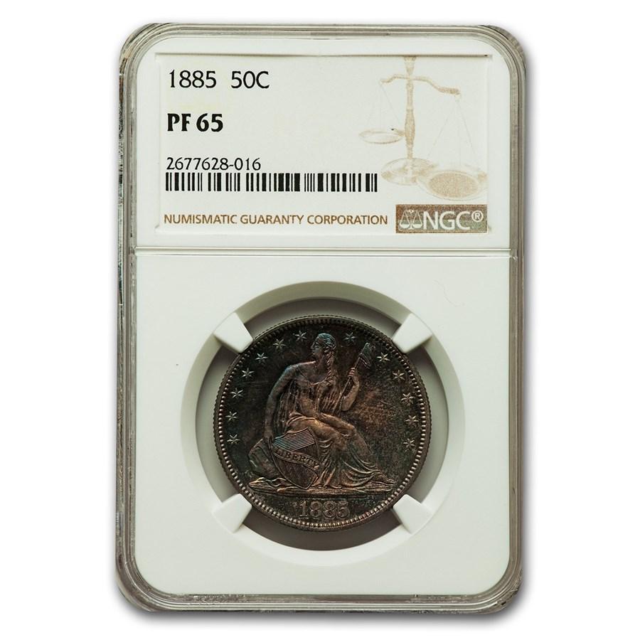 1885 Liberty Seated Half Dollar PF-65 NGC