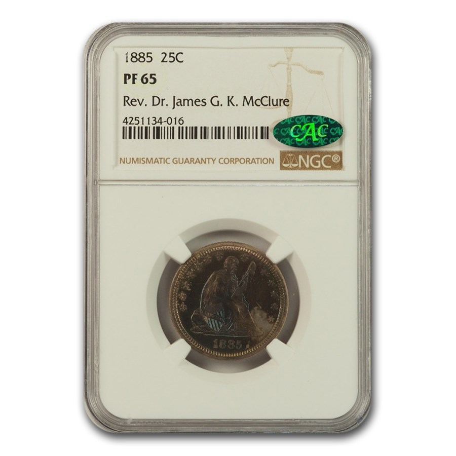 1885 Liberty Seated Quarter PF-65 NGC CAC