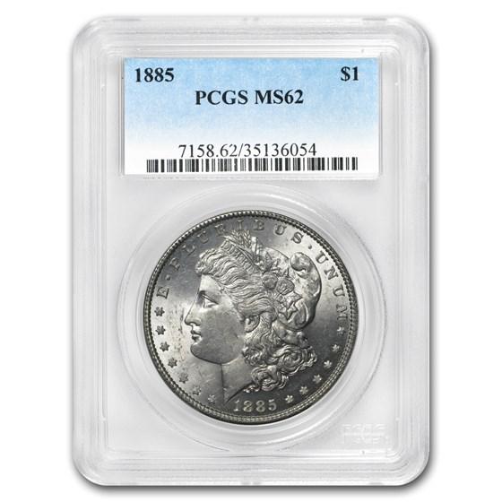 1885 Morgan Dollar MS-62 PCGS