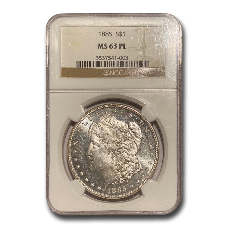 1885 Morgan Dollar MS-63 PL Proof Like NGC