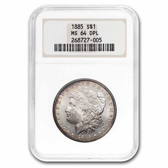 1885 Morgan Dollar MS-64 DPL NGC