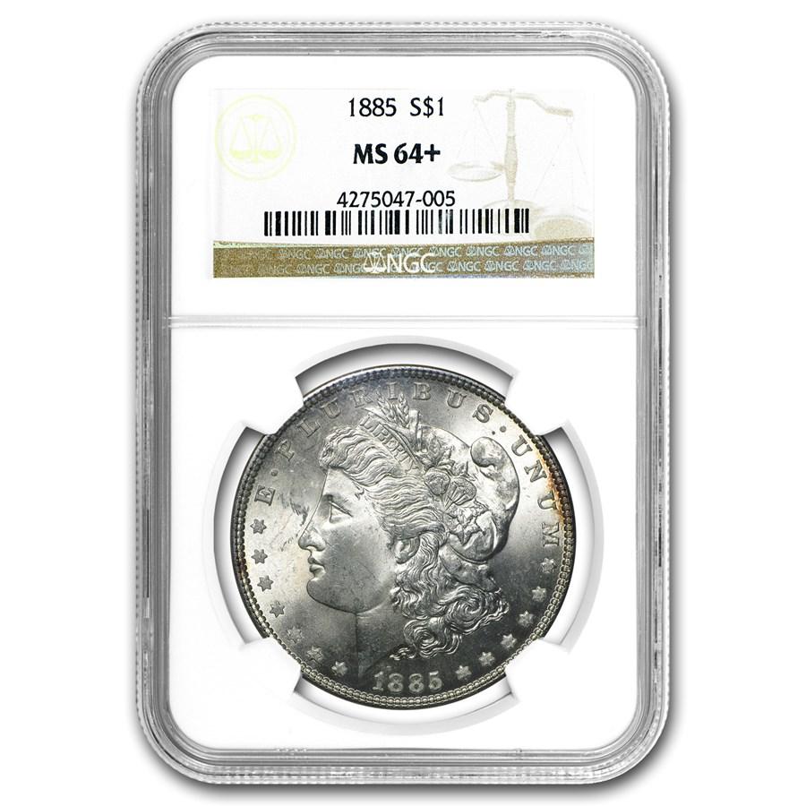1885 Morgan Dollar MS-64+ NGC