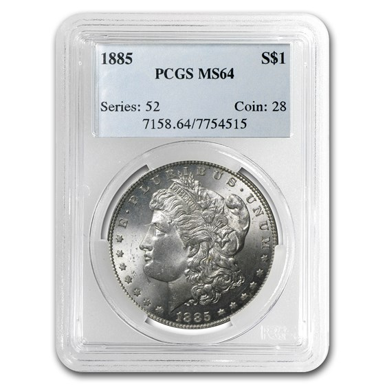 1885 Morgan Dollar MS-64 PCGS