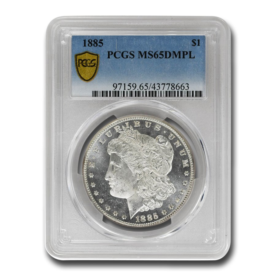 1885 Morgan Dollar MS-65 DMPL PCGS