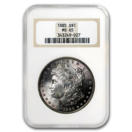 1885 Morgan Dollar MS-65 NGC (Peripheral Toning)