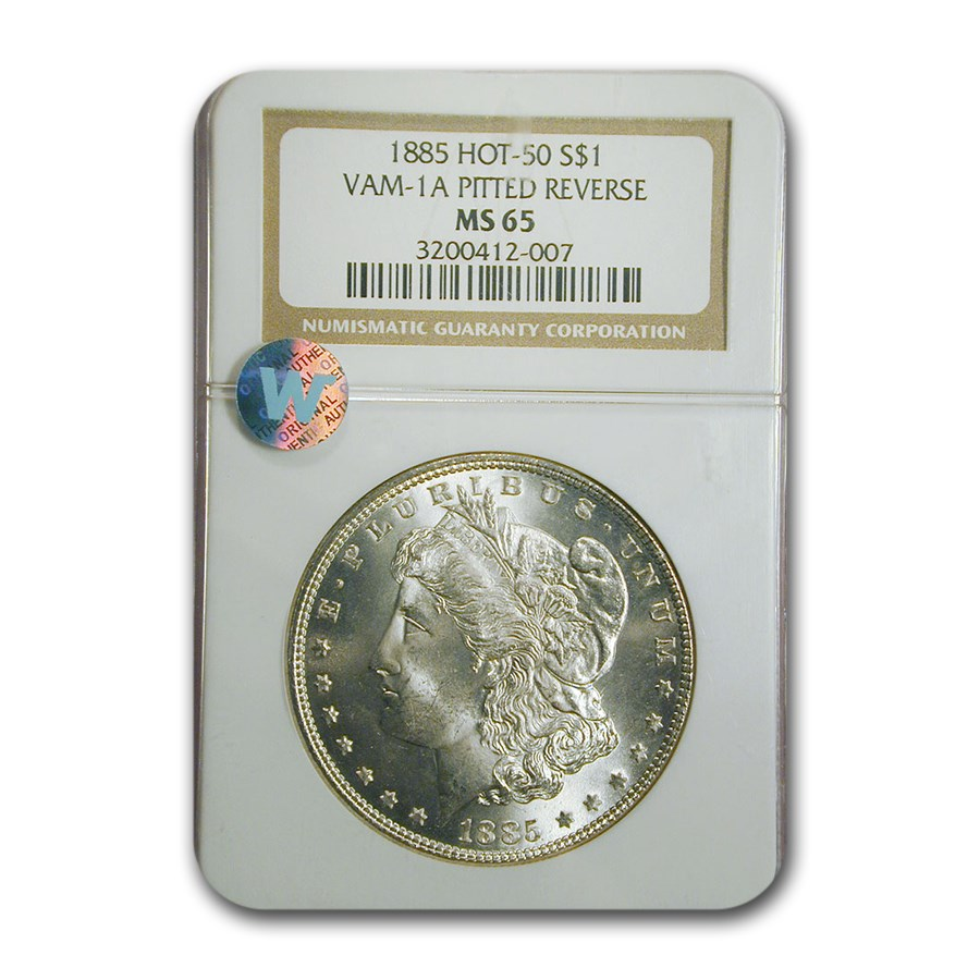 1885 Morgan Dollar MS-65 NGC (VAM-1 A Pitted Reverse Hot-50)