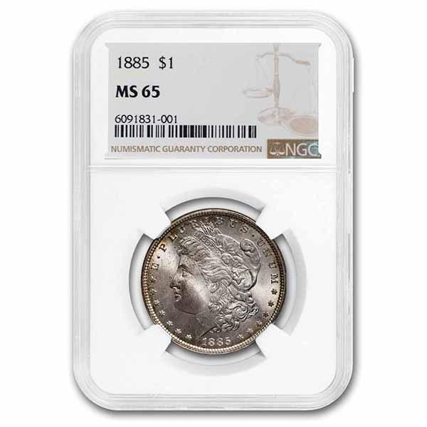1885 Morgan Dollar MS-65 NGC