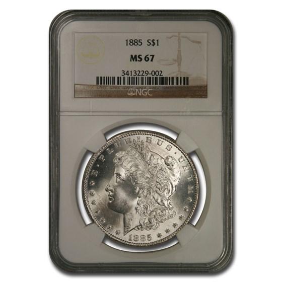 1885 Morgan Dollar MS-67 NGC