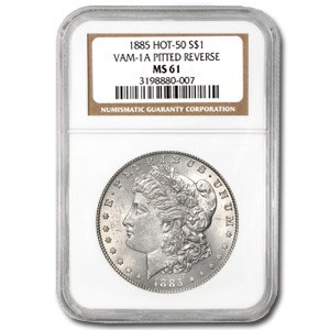 1885 MS-61 NGC (VAM-1A, Pitted Rev Hot-50)