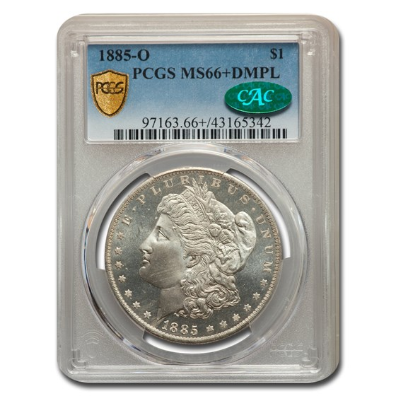 1885-O Morgan Dollar DMPL MS-66+ PCGS CAC