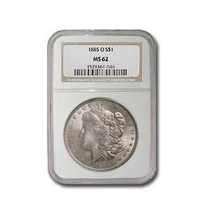 1885-O Morgan Dollar MS-62 NGC