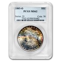 1885-O Morgan Dollar MS-62 PCGS (Beautifully Toned)