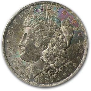 1885-O Morgan Dollar MS-62 PCGS (Black Bag Toned Obv)