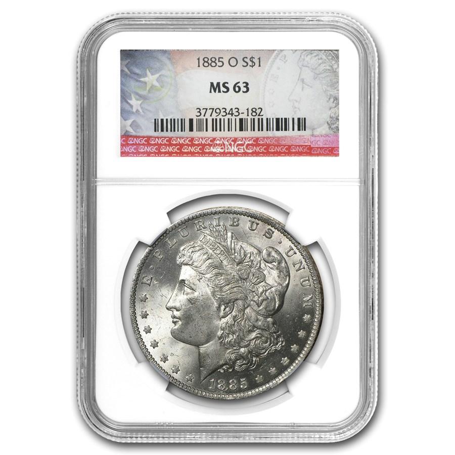 1885-O Morgan Dollar MS-63 NGC